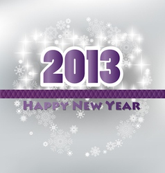 Happy new year 2013 card vector image
