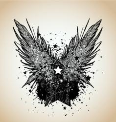 heraldic design element vector image