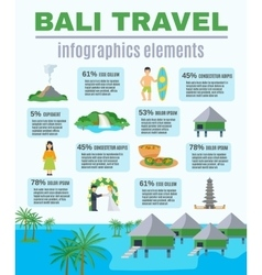 Infographics elements bali travel vector
