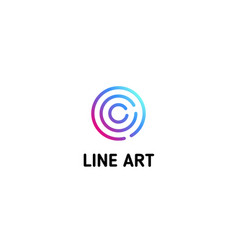 isolated dotted line art logo template abstract vector image vector image
