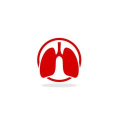 lung logo icon vector image vector image