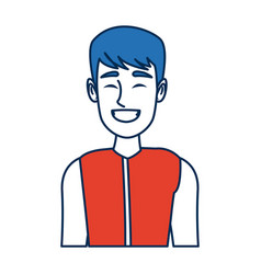 Portrait man smiling character person vector