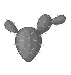 Prickly pear icon monochrome vector