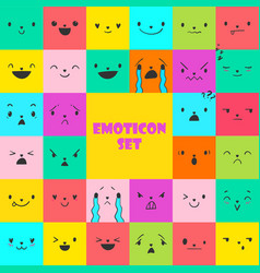 Set square emoticons 2 vector