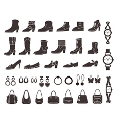 Shoes and accessories vector image vector image