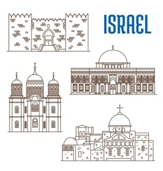 sightseeings architecture landmarks of Israel vector image vector image