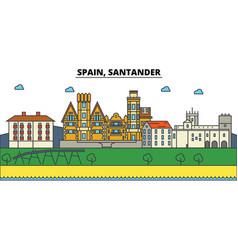 spain santander city skyline architecture vector image