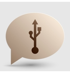 USB sign Brown gradient icon on vector image vector image
