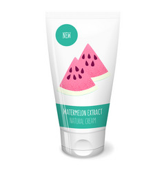 Watermelon fresh slice on white tube vector