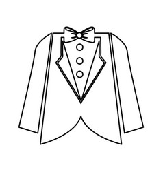Wedding male suit icon vector