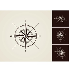 Wind rose collection vector