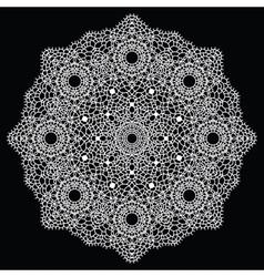 Crochet lace mandala vector image