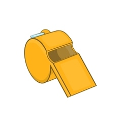 Sports whistle icon cartoon style vector image