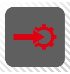 Cog integration rounded square button vector