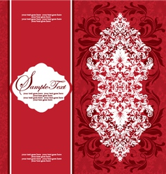 Damask floral card vector