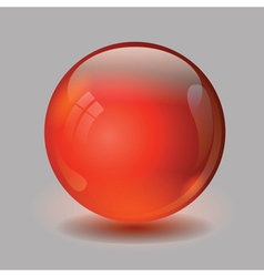 Red glass ball vector