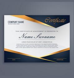 Premium diploma luxury certificate template vector