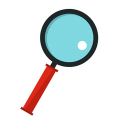 Magnifying glass icon isolated vector