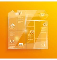 Glass framework set vector image