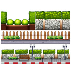 different design for fences vector image