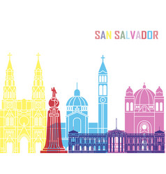 San salvador skyline pop vector