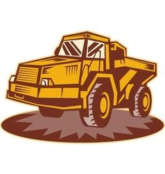 Mining dump truck vector
