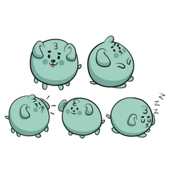 Round dog collection vector