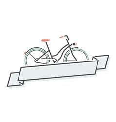 Retro bicycle and ribbon vector