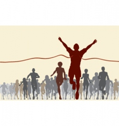 finishing line vector image