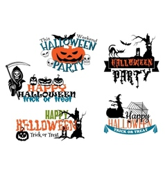 Happy halloween posters and banners vector