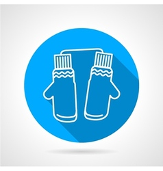 Mittens pair flat icon vector