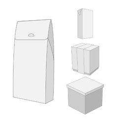 Design of white carton package box vector