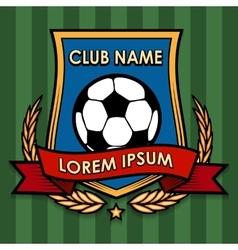 Football Club Emblem vector image