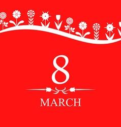 8 marta line red vector image