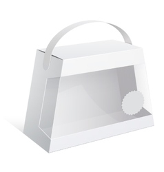 Light package box with a handle vector