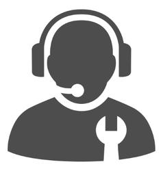 Service operator flat icon vector