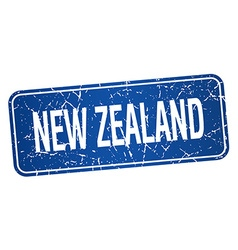 New zealand blue stamp isolated on white vector