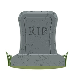Ancient rip grave isolated old gravestone with vector