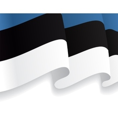 Background with waving estonian flag vector