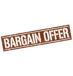 Bargain offer square grunge stamp vector