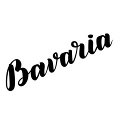 Bavaria hand drawn lettering lettering vector