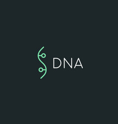 bio dna logotype linear medicine science lab vector image vector image