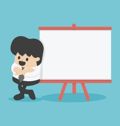 Businessman giving a presentation board for text vector