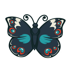 Butterfly with colorful wings vector