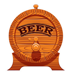 color with a cask of beer vector image