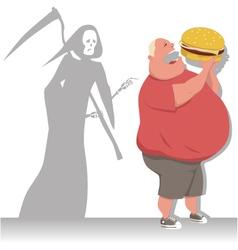 Danger of overeating vector image vector image