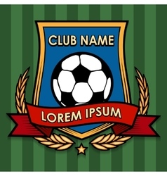 Football Club Emblem vector image