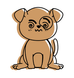 Isolated cute standing dog vector