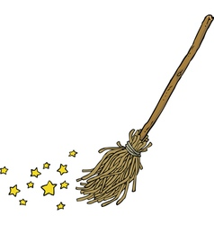 magic broom vector image