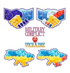 Military conflict in ukraine vector